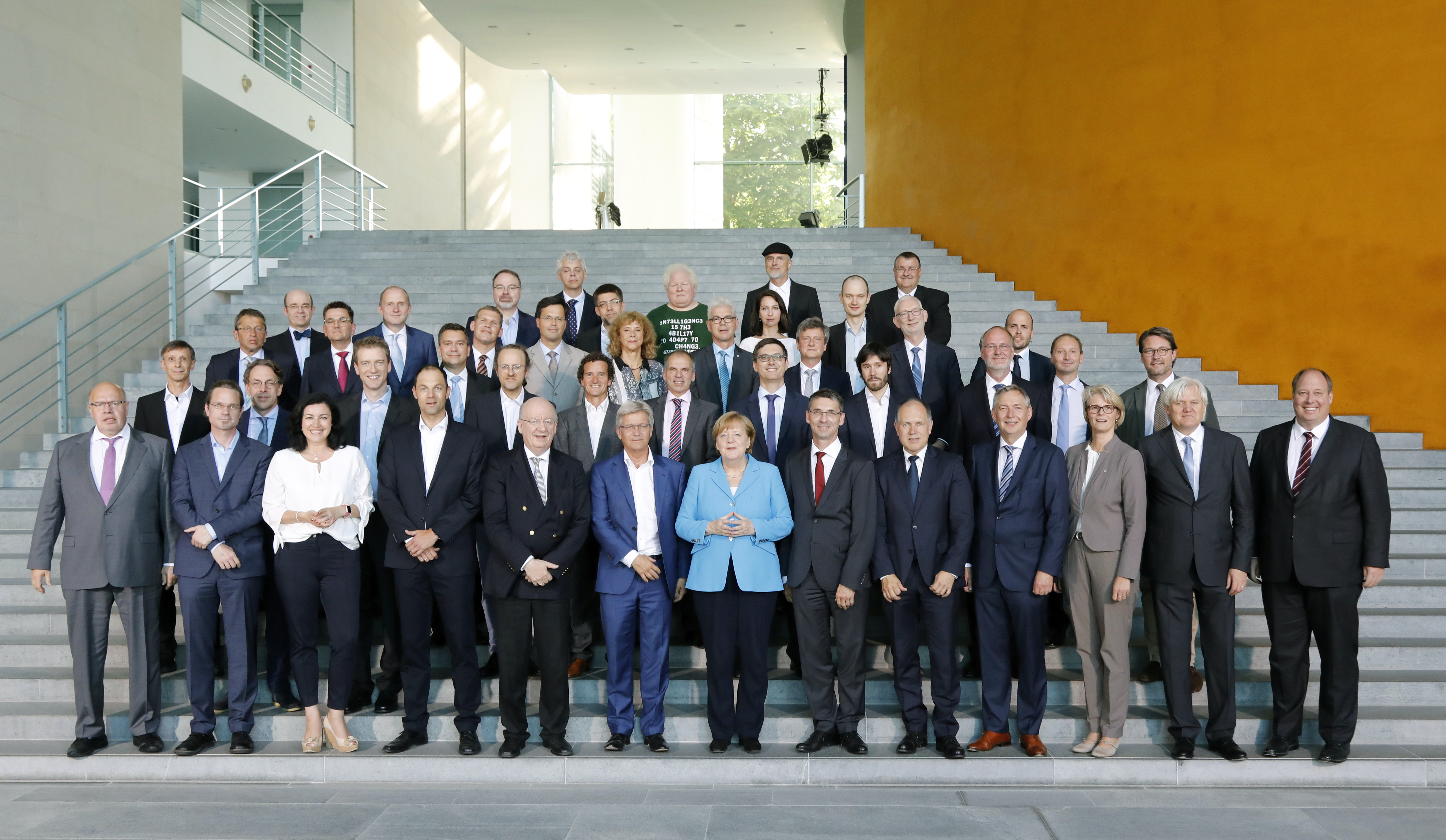 group photo with Chancellor Merkel
